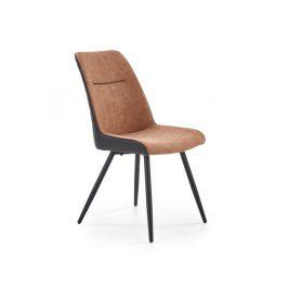 Jídelní židle K323 hnědá / černá Halmar