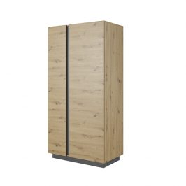 Šatní skříň CITY Tempo Kondela Bílá lesk
