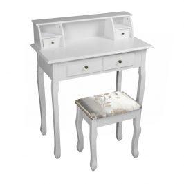 Toaletní stolek s taburetem RODES NEW bílá Tempo Kondela