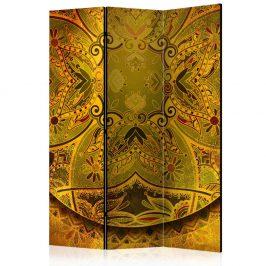 Paraván Mandala: Golden Power Dekorhome 135x172 cm (3-dílný)
