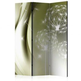 Paraván Green Gentleness Dekorhome 135x172 cm (3-dílný)