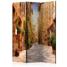 Paraván Colourful Street in Tuscany Dekorhome 135x172 cm (3-dílný)