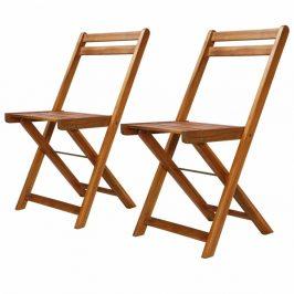 Zahradní bistro židle 2 ks hnědá