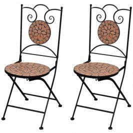 Zahradní skládací židle 2 ks Cihlová