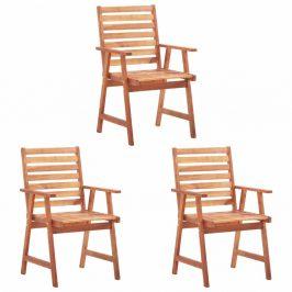 Zahradní jídelní židle 3 ks akáciové dřevo Dekorhome