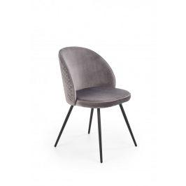 Jídelní židle K395 šedá / černá Halmar