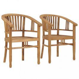 Zahradní židle 2 ks teakové dřevo Dekorhome