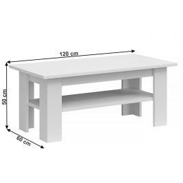 Konferenční stolek JOLK 120 bílá Tempo Kondela