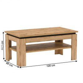 Konferenční stolek T TORONTA dub wotan Tempo Kondela