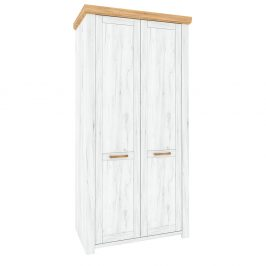 Věšáková skříň F SUDBURY dub craft zlatý / dub craft bílý Tempo Kondela Obývací stěny