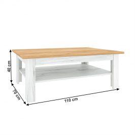 Konferenční stolek T2 SUDBURY dub craft zlatý / dub craft bílý Tempo Kondela