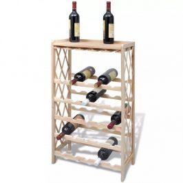 Stojan na víno na 25 lahví jedlové dřevo Dekorhome