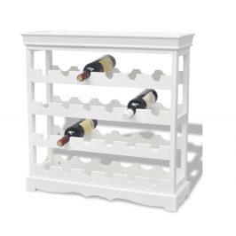Stojan na víno MDF Dekorhome Bílá