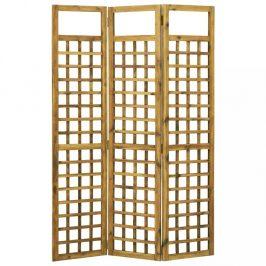 Paravan akáciové dřevo / treláž Dekorhome 120x170 cm (3-dílný)