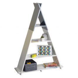 Dětský regál BARNIE ve tvaru pyramidy Tempo Kondela Bílá