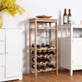 Regál na víno SAROKO bambus Tempo Kondela