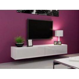 TV stolek Igore 140, bílá/bílý lesk