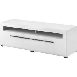 TV stolek Toulouse 41, bílá/bílý lesk