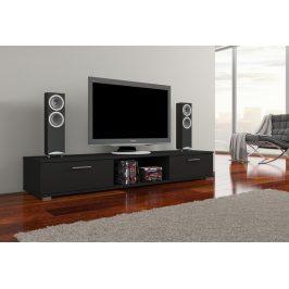 Moderní TV stolek Ariva, černý mat