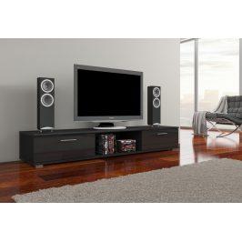 Moderní TV stolek Ariva, černý lesk