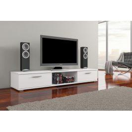 Moderní TV stolek Ariva, bílý lesk