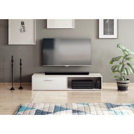Moderní TV stolek Savana 140cm, bílý