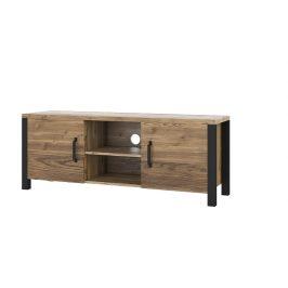 TV stolek Olmar 41, smrk Apenzelský/černý mat