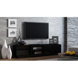 TV stolek Santiago, černá/černý lesk