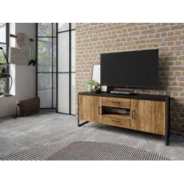 TV stolek Tempuro 41, smrk appenzellský/černá