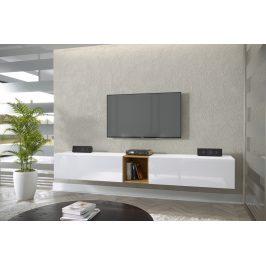 TV stolek Premio P 234cm, bílá/bílý lesk