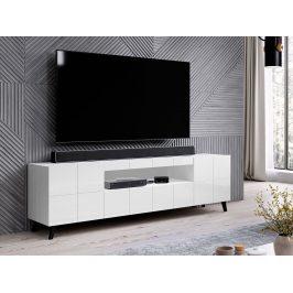 Kvalitní TV stolek Rebon, MDF bílý lesk