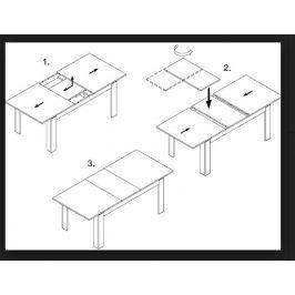 Swierczynski Rozkládací jídelní stůl S7 Świerczynscy 200x100 + 2x40