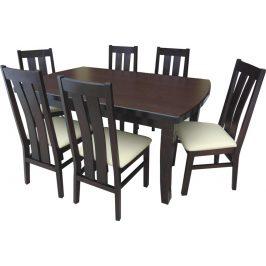 Swierczynski Rozkládací jídelní stůl WENUS 160x100 + 4x55