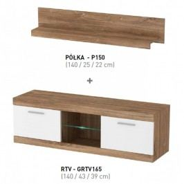 Piasky Televizní stolek s poličkou GULIO výprodej Stolky pod TV