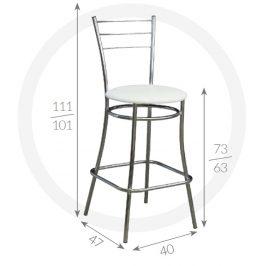 Metpol Barová židle Silvio Metpol  111/101 x 73/63 x 47 x 40