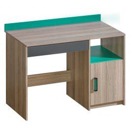 Dolmar Psací stůl ULTIMO U8 Dolmar 110/85/55 Barva: jasan-coimbra-tmava-zelena