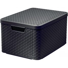 Curver Box s víkem STYLE - L - tm. hnědý