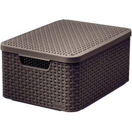 Curver Box s víkem STYLE - M - tm. hnědý Úložné boxy
