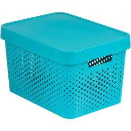Curver Box INFINITY DOTS 17L - modrý