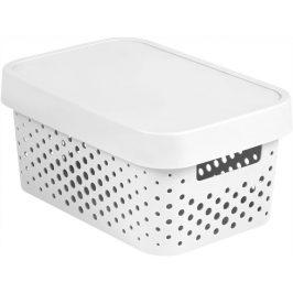 Curver Box INFINITY DOTS 4,5L - bílý