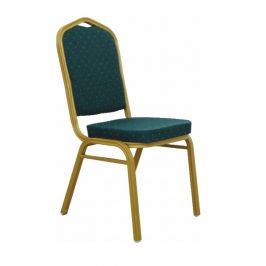Tempo Kondela Židle ZINA NEW - látka zelená / matný zlatý rám Židle do kuchyně