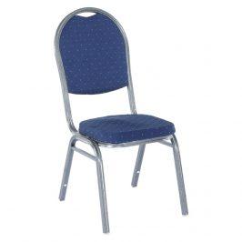 Tempo Kondela Židle JEFF - látka tmavě modrá/šedý rám