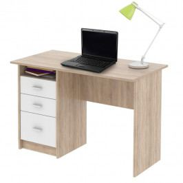 Tempo Kondela PC stůl SAMSON - dub sonoma/bílá Psací stoly