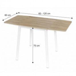 Tempo Kondela Rozkládací jídelní stůl MAURO - dub sonoma / bílá