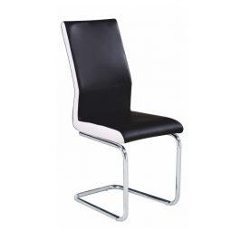 Tempo Kondela Židle NEANA - ekokůže černá / bílá