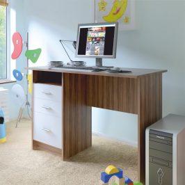 Tempo Kondela PC stůl SAMSON NEW - švestka bílá Psací stoly