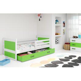 Falco Dětská postel Riky 90x200 - bílá/zelená