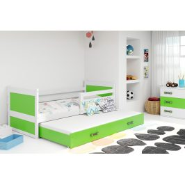 Falco Dětská postel Riky II 90x200 - bílá/zelená