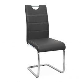 Tempo Kondela Jídelní židle Abira NEW - tmavě šedá ekokůže