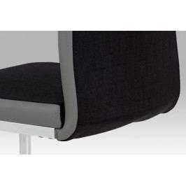 Autronic Jídelní židle DCL-410 BK2 - černá látka + šedá koženka